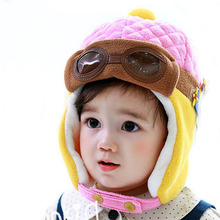 Hot Sale Toddlers Warm Cap Hat Beanie Cool Baby Boy Girl Hat Kids Infant Winter Pilot Aviator Cap Free Shipping(China)