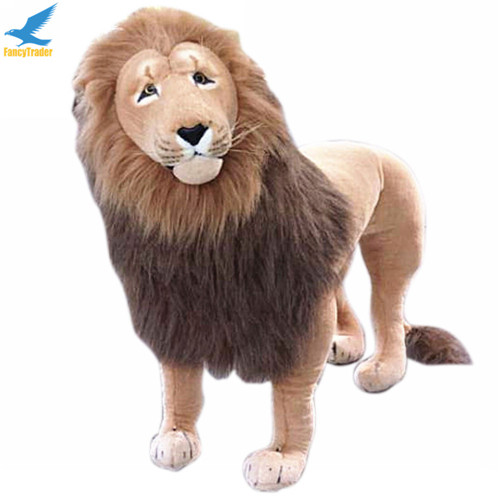Fancytrader 43\'\' Giant Plush Stuffed Simulation Lifelike Lion King Simba Can be Rided by Kids Great Gift FT90284 (3)