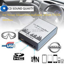 SITAILE USB SD AUX Car MP3 Music Adapter for Nissan Almera Maxima Teana Infiniti FX EX Interface Simple Installation Car-styling