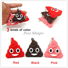 funny red pink shit Emotion Poo Shape usb flash drive disk memory stick pendrive Pen drive 4GB 8GB 16GB 32GB real capacity