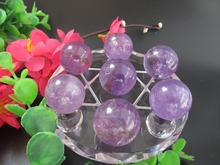 Natural Amethyst Quartz Crystal Ball Amethyst Sphere Reiki Healing Crystal Ball Seven Array Feng Shui Decoration