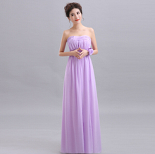 braid maid long formal lavender bridal gowns dinner dresses women purple a line dress for wedding guests free shipping S2486