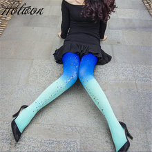 Buy Womens Seasons Kawaii 120D Velvet Gradient Opaque Seamless Pantyhose Stockings Candy Color Tights Medias Tayt Women
