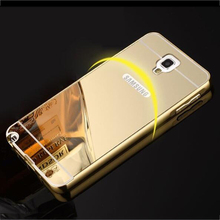 For Samsung Galaxy Note 3 Neo Case Note 3 Lite Note3 Mini N7505 Plating Mirror Aluminum Metal Frame Acrylic PC Back Cover Coque