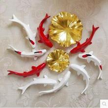 Wall stickers, fish and lotus leaf crafts, wall decorations, room decoration