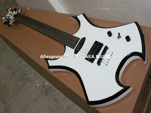 Wholesale Guitar New Arrival White BC Rich Electric Guitar High Quality Free Shipping(China)