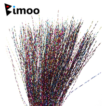 6 Bags Twisted Rainbow Flashabou for Fly Tying Fibers Treble Tailing Material