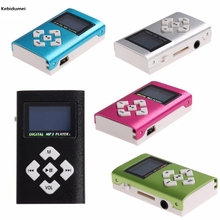 Kebidumei Hot USB Mini MP3 Player LCD Screen Support 32GB Micro SD TF Card Slot Digital mp3 music player design Sport Compact(China)
