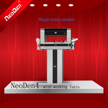 SMT Machine/Smt Pick and Place Machine/PCB Surface Mounting Machine/PNP Machines NeoDen4 With rails+Working Table