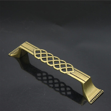 Antique Bronze Cage Door Pull Handle Zinc Alloy Chinese Classical European Style Cabinet Drawer Bookcase Handle