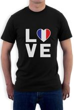 Summer New Men Cotton T Shirt I Love France - French Patriot Gift Idea - France Flag T Shirt Novelty Gift Idea Men Summer Style