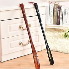 New High Quality 55cm Mahogany craft Wooden Shoe Horn Professional Wooden Long Handle Shoe Horn Lifter Shoehorn P0.5(China)