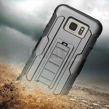 Impact Shockproof Hard Hybrid Armor Case+Kickstand Heavy Duty Cover Holster Belt Clip Samsung Galaxy S7 Active G891