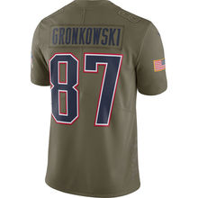 Men's Rob Gronkowski Olive Salute To Service Limited Game and Rush jerseys(China)