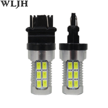 WLJH 2x 3157 3057 LED 5630 Epistar Led Chips White Amber Dual Color Switchback Turn Signal Light Bulb for Chrysler PT Cruiser