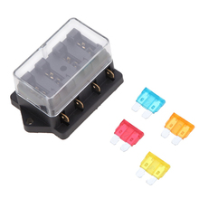 Universal Auto 12V 4 Way Circuit Standard ATO Blade Fuse Build In Block Box / Holder With 4 Fuse For Car