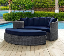 2017 Factory direct sale Wicker Garden Furniture 2 Piece Outdoor Daybed Set