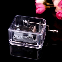 Unique DIY Mechanical Musical Box Golden Movement And Screws Music Boxes Set 6 Songs For Gift(China)