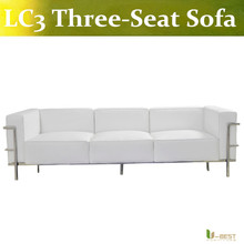 U-BEST classic Le Corbusier Sofa ( LC3)/le corbusier sofa replica/le corbusier lc3 sofa(China)