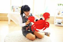 small cute creative crab toy new red crab pillow doll about 55cm(China)