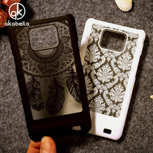 Akabeila Hollow Flower Phone Cases For Samsung I9100 Galaxy S II I9100G i9108 i9100p SII S2 GT-I9100 Cover Capa Houisng Back