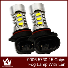 Cheeth Best quality Car Auto HB4 9006 5730 SMD 15 LED  Headlight Fog light Driving Lights Lamp Bulb car light
