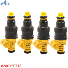 YALICO 4Pcs Car Fuel Injector For Ford F150 F250 F350 1993-2003 5.0 5.8 4.6 5.4 OE 0280150718 Flow Car-styling Auto Replacement
