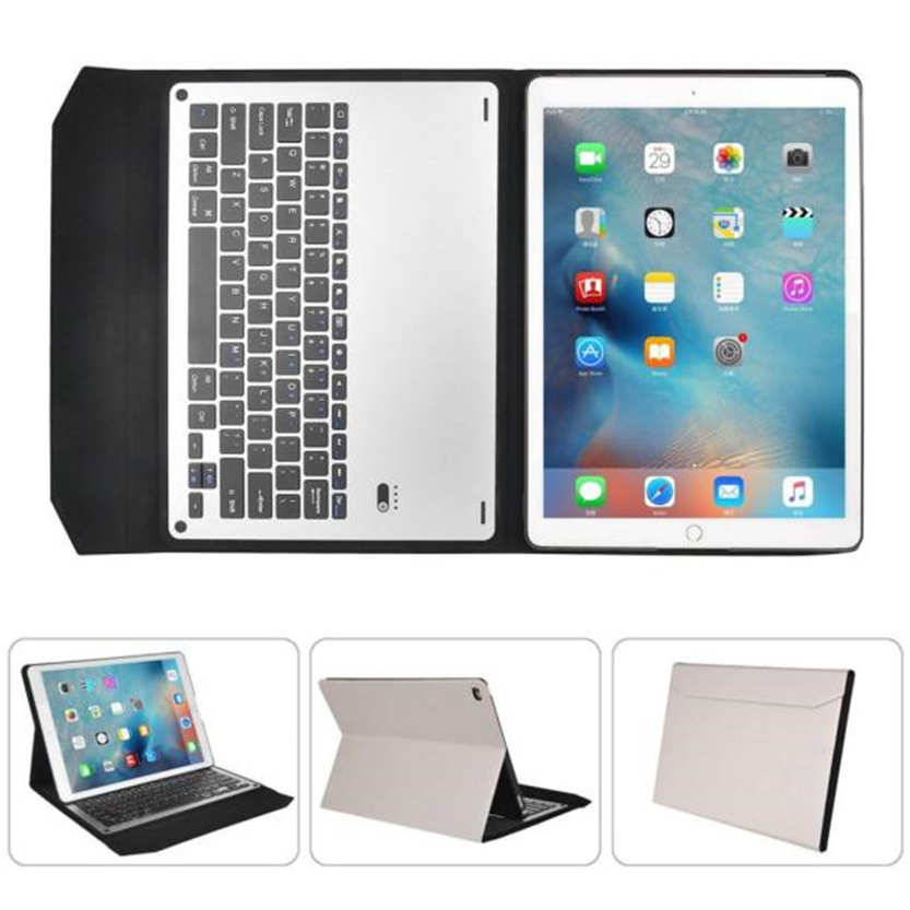 Del  For iPad Air2 9.7inch Ultra Aluminum Bluetooth Keyboard with Pu Leather Case Cover Apr08<br><br>Aliexpress