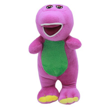 17cm Purple Barney The Dinosaur Plush Toys Doll Cute Barney & Friends Plush Stuffed Toys Soft Animals Toy for Kids Children Gift(China)