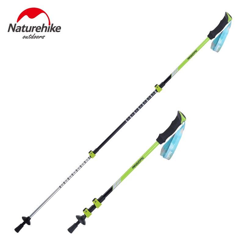 Naturehike Alpenstocks Ultralight Trekking Folding Pole Walking Hiking sticks camping AntiShock Alpenstocks external lock<br>