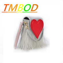 TMBOD2016 new winter bag trend of Korean personality love ostrich feather box microfiber leather chainsingleshoulderflapbag.y332