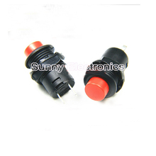 2pcs, Red Locking Latching OFF- ON Push Button Car/Boat Switch 12mm