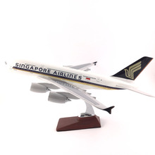 FREE SHIPPING 45-47CM A380 SINGAPORE AIRLINES METAL BASE AND RESIN MODEL PLANE AIRCRAFT MODEL TOY AIRPLANE BIRTHDAY GIFT(China)