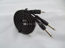 3.5 mm to dual 6.3/6.5 A second audio line Mixer cables Audio and video signal cable 1.5M 4.9ft Mixer cables