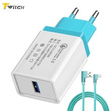Buy Twitch wall Travel USB Charger Quick Charge 3.0 IPhone X 8 7 Fast Mobile Phone Charger USB Adapter Samsung Galaxy S8 S7 for $2.99 in AliExpress store