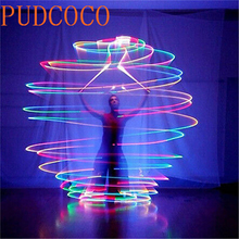 2 Balls+2 Ropes 1 Pair LED POI Thrown Balls for Professional Belly Dance Level Hand Props US Rsp(China)