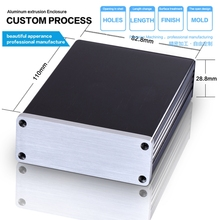 Hot 82.8*28.8*110 mm Aluminum HIFI audio casting project enclosure electronic enclosure