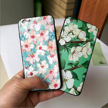 Fashion Printing Flower China Style Case For iPhone 7 7 Plus 5.5 Thin TPU Silicone Soft Case For iPhone 6 6S Phone Back Cover