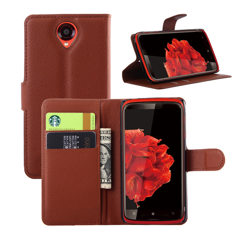 Lenovo S820 Case Luxury PU Leather Case Lenovo S820 Cover Flip Wallet Style Phone Cover Lenovo S820 Stand Card Slot