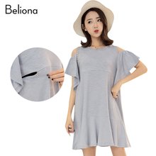 Cute Mini Nursing Dress Summer Maternity Clothes for Pregnant Women 2017 Summer Pregnancy Clothing for Breastfeeding