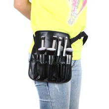 Hot Sale PVC Professional Cosmetic Makeup Brush Apron Bag With Artist Belt Strap Professional Bag Holder Wholesale