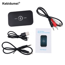 HiFi Wireless Bluetooth Receiver Transmitter with 3.5mm Audio Cable 2 in1 Dual Audio Music Sound Adapter for TV PC BT Device(China)
