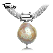 FENASY Bohemian charm design pearl necklace, men women necklace, wearing method fashion jewelry Profiled pearl jewelry necklace