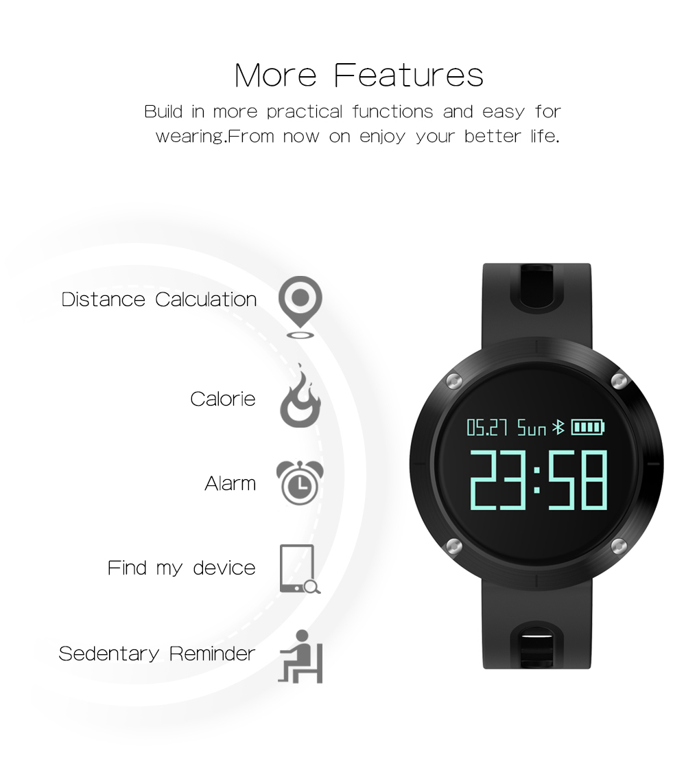 Waterproof Sports Bracelet DM58 Smart Band Heart Rate Blood Pressure Watch Smart Wristband Fitness Tracker for IOS Android C1 15