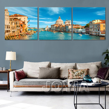 Modern Wall Painting Italy Venice Water City Landscape Art Picture Paint On Canvas Prints For Home Office Hotel Decor No Frame(China)