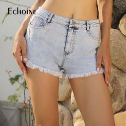 Летние модные повседневные короткие женские джинсовые шорты 2019 новые женские байкерские шорты уличный стиль сексуальные с высокой талией ...