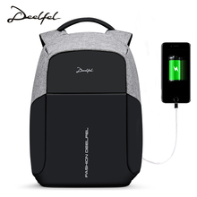 Deelfel New Men Backpack For 15.6 inches Laptop Backpack Multifunction USB Charging Large Capacity Anti Theft Bag Waterproof(China)