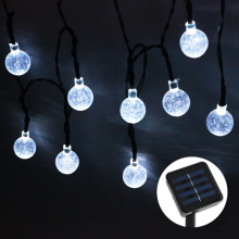 Fairy Lights for Outdoor Garden Christmas Decoration Solar Lamp beads 20/30 LED Wedding Lights Party Outdoor Ball light