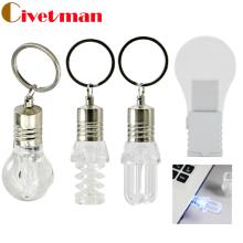 Light Bulb Shaped USB Flash Drive Electric Bulb LED Pen Drive Flash Card Gift 4GB 8GB 16GB 32GB Pendrive USB Stick Free Shipping