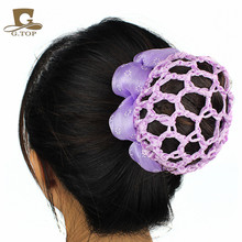 New girls kids Bun Cover Snood Hair Net Ballet Dance Skating Crochet hair decoration